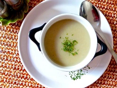 Velouté de panais à l'ail rôti et aux lingots blancs - C'Végétal
