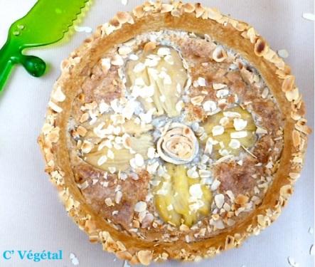 Tarte bourdaloue aux poires végétalienne - C'Végétal