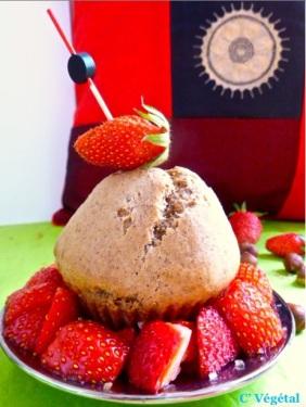 Muffins pralinés et fraises au sucre - C'Végétal