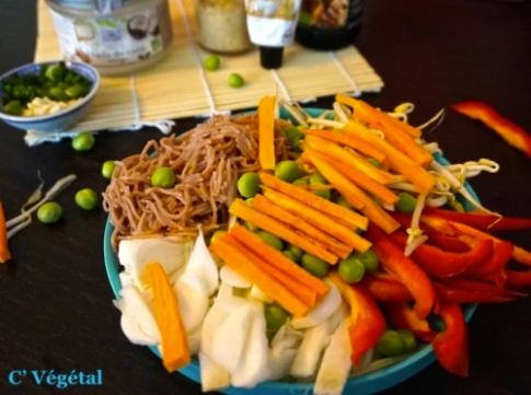Nouilles sautées Singapour à ma façon - C'Végétal