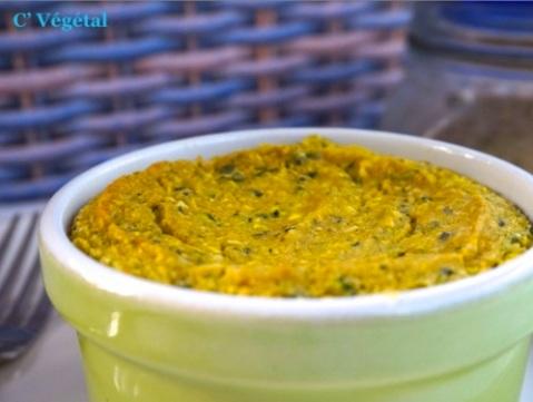 Timbale «fromagère» crémeuse aux courgettes - C'Végétal
