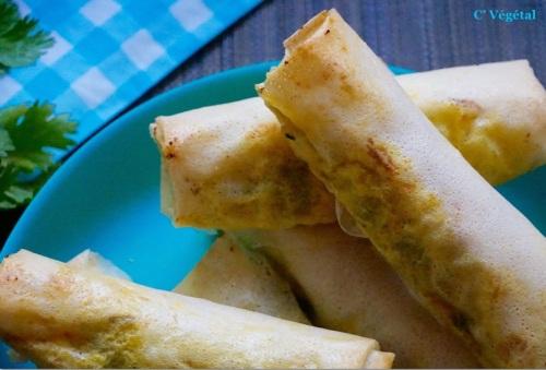 Rouleaux de fondue de poireaux aux saveurs indiennes - C'Végétal