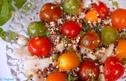 Taboulé de quinoa germé multicolore - C'Végétal