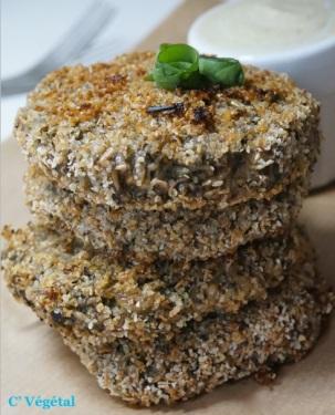 Croquettes de champignons à la crème d'oseille - C'Végétal