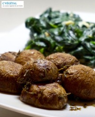 Champignons rôtis au thym // Thyme roasted mushrooms - C'Végétal