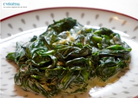 Epinards frais à la crème // Fresh creamed spinach - C'Végétal