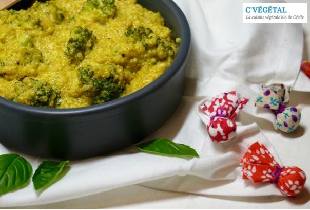 Risotto de quinoa au brocoli et curcuma frais // Brocoli and fresh turmeric quinoa risotto - C'Végétal