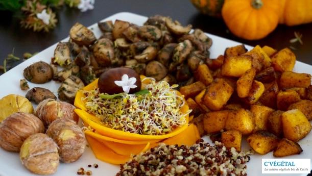 Assiette d'automne // Autumn plate - C'Végétal