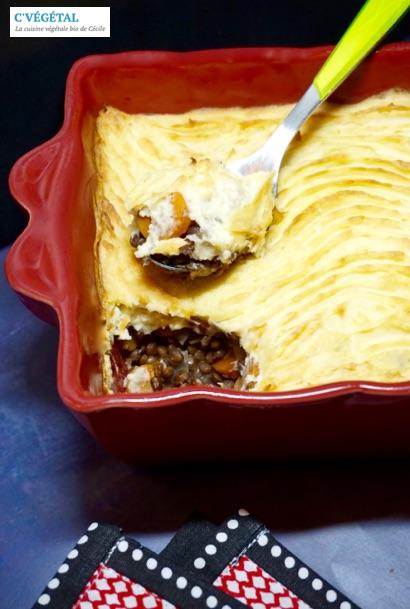 Hachis parmentier aux lentilles et panais // Lentil and parsnip cottage pie - C'Végétal