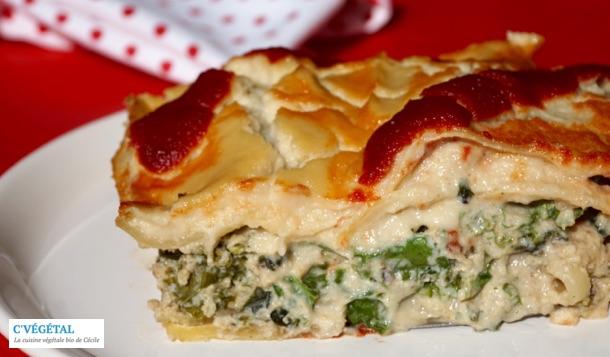 Lasagnes de kale sauce alfredo : Kale lasagna with Alfredo sauce - C'Végétal