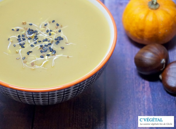 Potage d'octobre aux marrons : October chestnut soup - C'Végétal