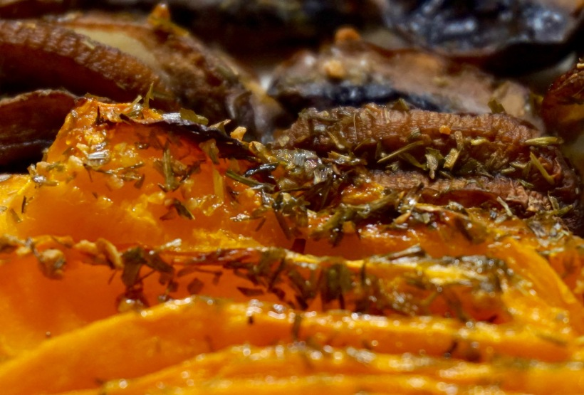 Le sandwich champignons-potimarron-cheddar comme chez Cojean - Les légumes après cuisson