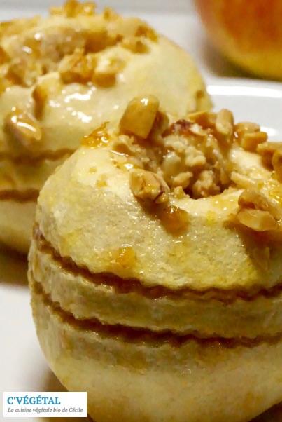 Pommes au four au beurre de cacahuète // Baked apples with peanut butter - C'Végétal
