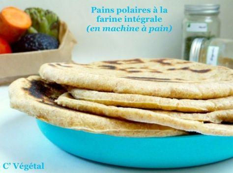 Pain polaire à la farine intégrale (en machine à pain)