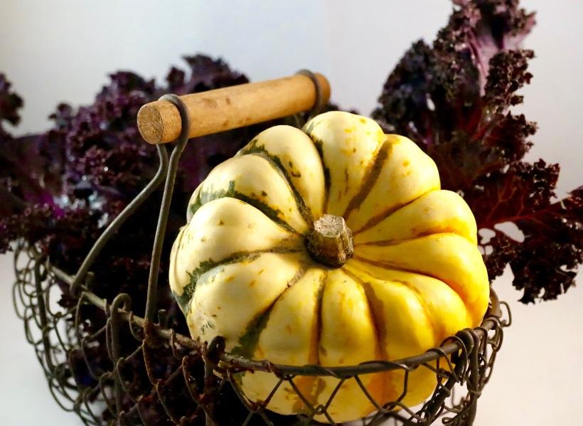 Tarte au patidou et kale rouge - Vegan - C'Végétal - https://cvegetal.com